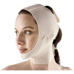 Surgical Face Mask with Split Hood and Mid-Neck Support
