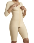 1st Stage Bodysuit with Bra,Reinforced Abdominal Panel, 3/4 Length Sleeves, and  Thigh Length Legs