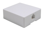 Surface Mount Jack; 6 Position 4 Conductor (6P4C) - White