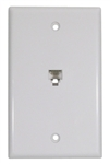Flush White Wallplate 6P4C