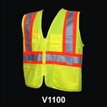 Safety Vest Class 2 Triple Trim Lime