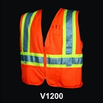 Safety Vest Class 2 Triple Trim Orange