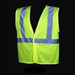 Safety Vest Class 2 Lime (5 Point Tear Away Design)