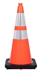 28 Inch Traffic Cone W/Reflective Collars