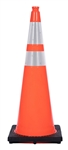 36 Inch Traffic Cone W/Reflective Collars