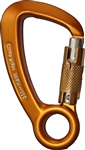 Climb Right Aluminum Carabiner W/fixed eye & triple lock