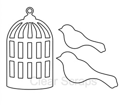 Birds and Cage Embellishments