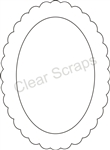 Small Oval Scallop Frame