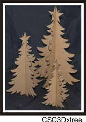 3D Chipboard X-Mas Trees