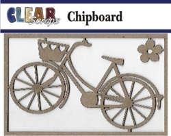 Bike with Basket Chipboard Embellishments