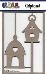 Bird Houses Chipboard Embellishments
