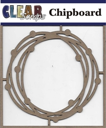 Circle Dots Chipboard Embellishments