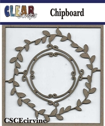 Vine Circle Chipboard Embellishments