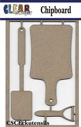 Cooking Utensils Chipboard Embellishments