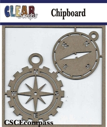 Compass Chipboard Embellishments