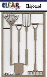 Garden Tools Chipboard Embellishments