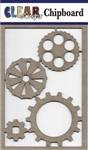 Cog Gears Chipboard Embellishments