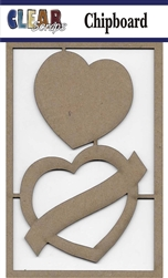 Banner Heart Chipboard Embellishments