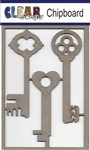 Keys Chipboard Embellishments