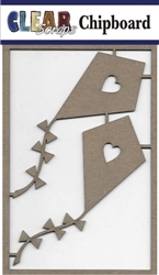 Kites Chipboard Embellishments