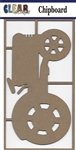 Tractor LG Chipboard Embellishment