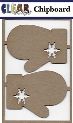 Mittens Chipboard Embellishments