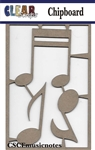 Music Notes Chipboard Embellishments