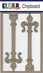 Ornate Hinges Chipboard Embellishments