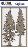 Pine Trees Chipboard Embellishments