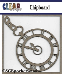 Pocket Watch Chipboard Embellishments