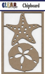 Sanddollar Chipboard Embellishments