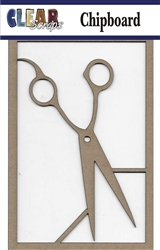 Scissors Chipboard Embellishment