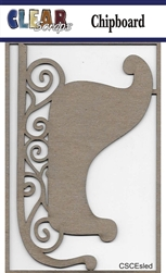 Sled Chipboard Embellishments