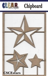 Stars Chipboard Embellishments