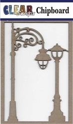 Street Lamps Chipboard Embellishments
