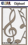Treble Clef Chipboard Embellishments