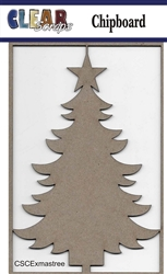 X-mas Tree Chipboard Embellishments