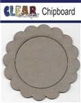 Circle Scallop Chipboard Frame