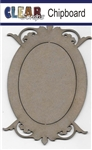 Oval Deco Top Chipboard Frame