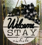 Welcome stay awhile with paint