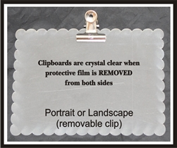 Clipboard Mini Rectangle Scallop