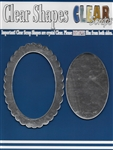 Oval Scallop Mirror Frame