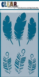 5 x 9 Feathers Layering Stencil