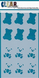 5 x 9 Teddy Bears Layering Stencil