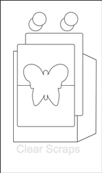 Butterfly Send it Clear Card