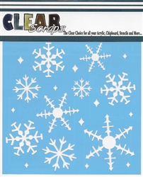 "6"" Ice Crystal Snowflakes"