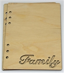 Family 6X8 Wood Album