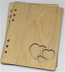 Hearts 6X8 Wood Album