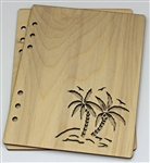 Palm Trees 6X8 Wood Album