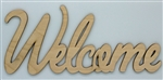 Welcome XL Script Wood Word